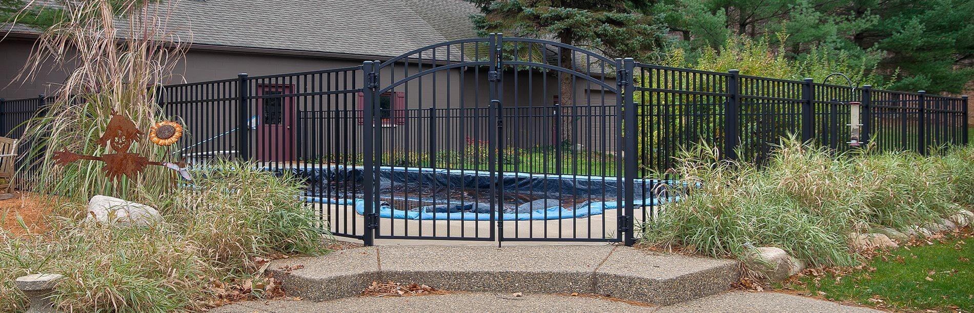 Kalamazoo Residential Ornamental Aluminum Fence Gates