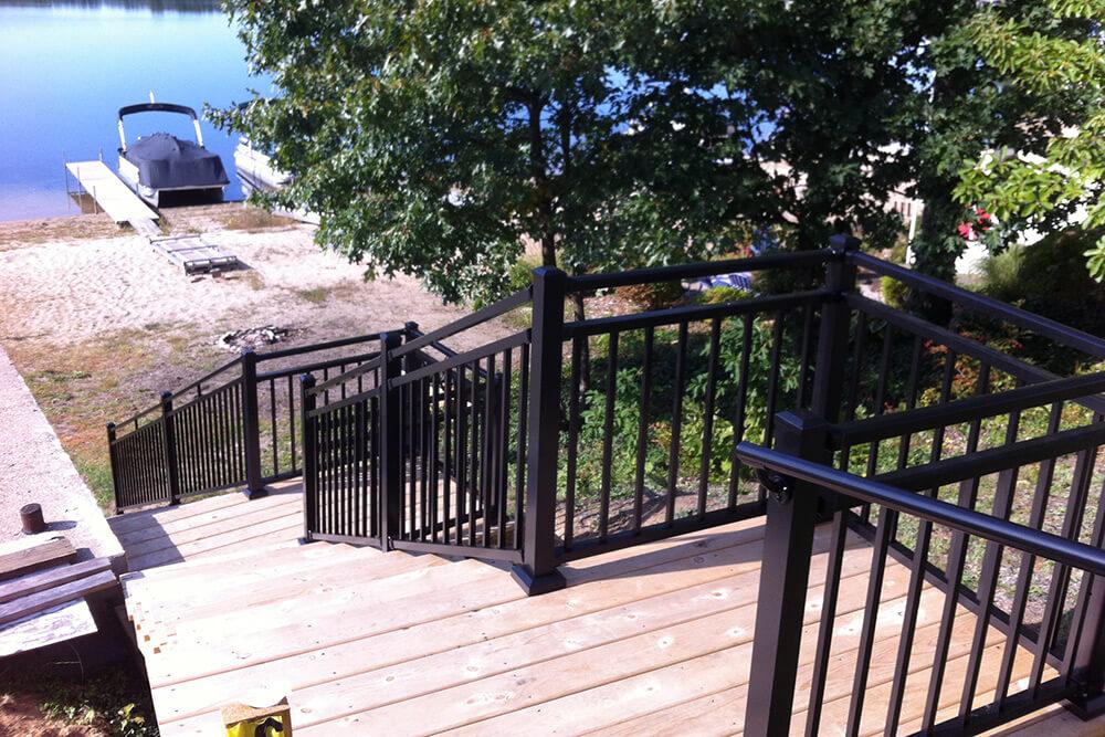 Residential aluminum railing system sales, installation
